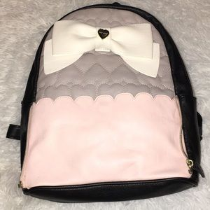 Ladies betsey johnson faux leather backpack